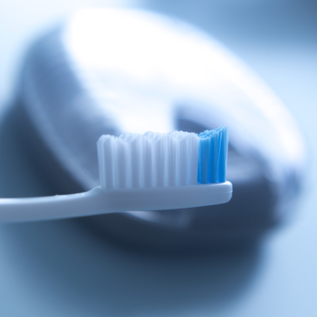 """""""Dental toothbrush isolated"""" stock image"""