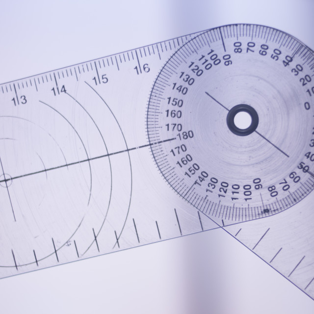 """""""Physical therapy goniometer"""" stock image"""