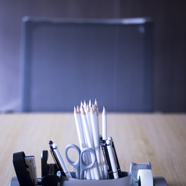 """Office meeting room pencils"" stock image"