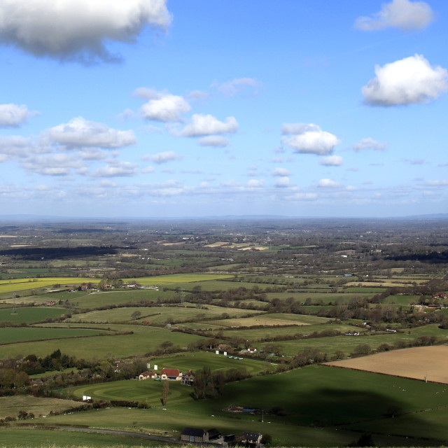 """""""Ditchling Beacon beauty spot, South Downs National Park, Sussex County,..."""" stock image"""