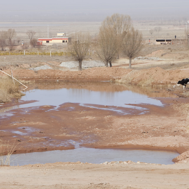 """China is in the middle of the worst drought in 50 years. Precipitation totals..."" stock image"