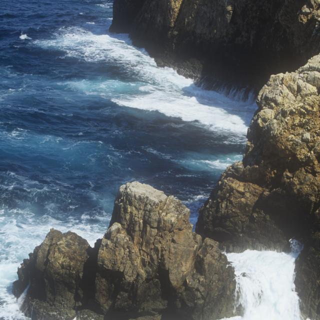 """The coast of Menorca in the Mediteranean"" stock image"