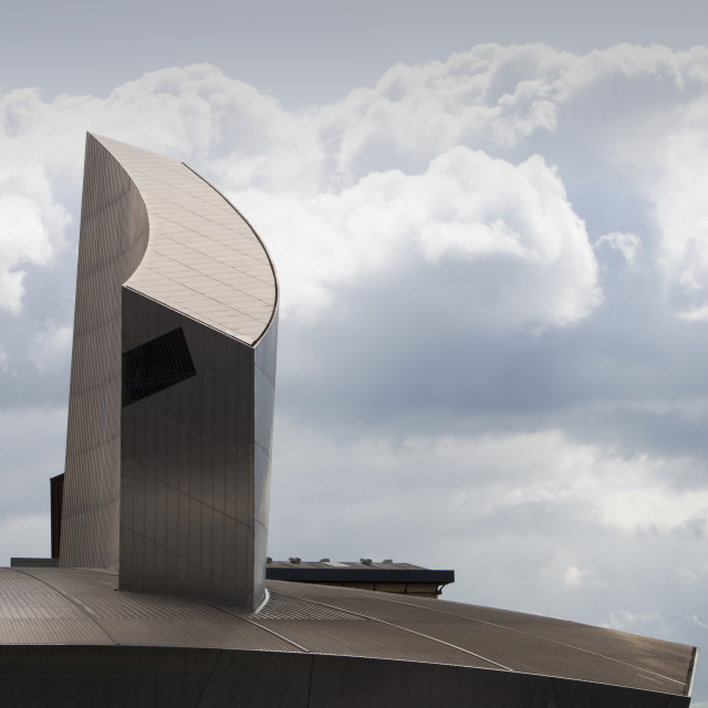 """The Imperial War Museum in Salford Quays, Manchester, UK."" stock image"