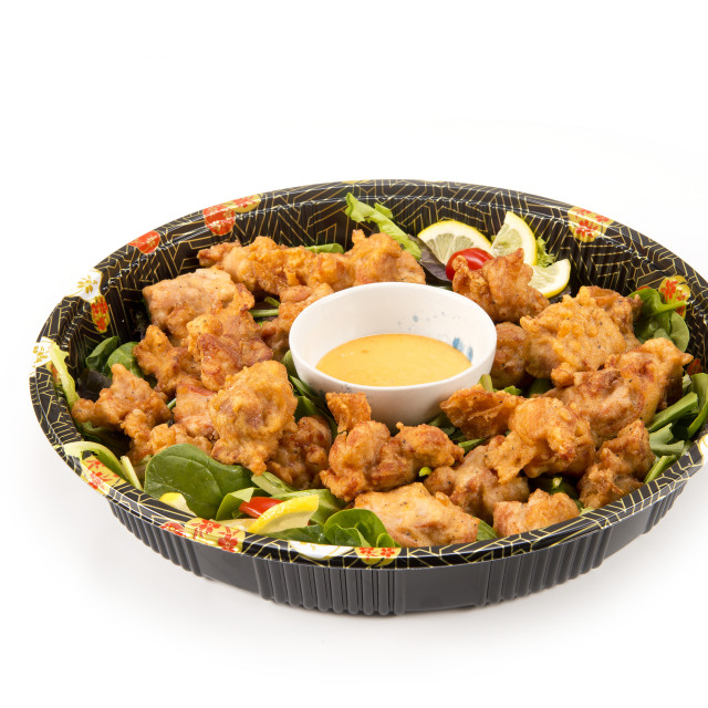 """karaage party tray"" stock image"