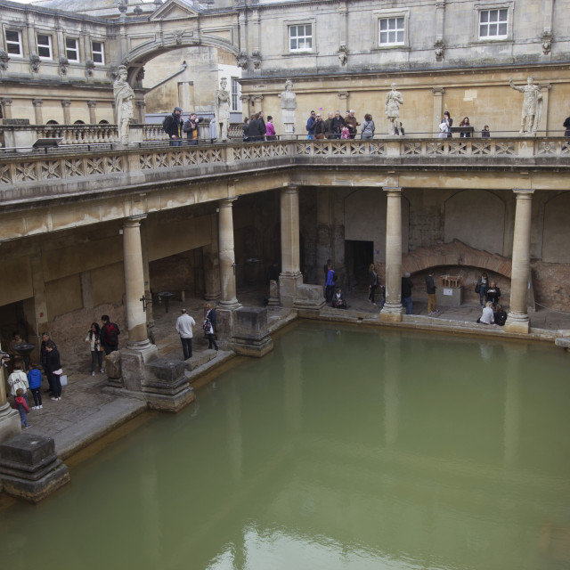 """Roman Bath from top"" stock image"