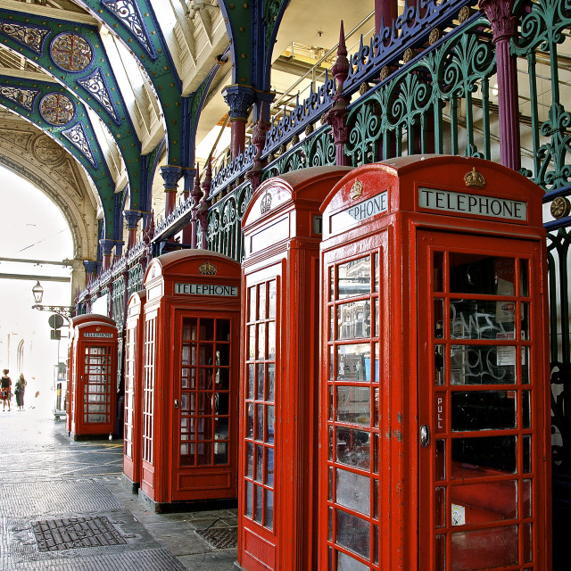 """""""The Phone Boxes"""" stock image"""