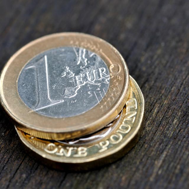 """""""Pound Euro Exchange #1"""" stock image"""