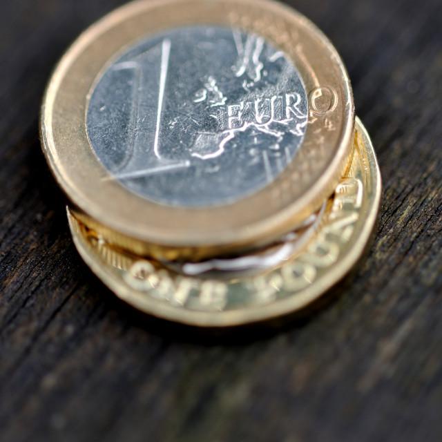 """""""Pound Euro Exchange #2"""" stock image"""