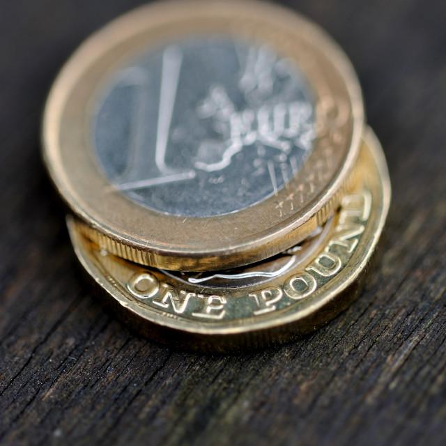 """""""Pound Euro Exchange #3"""" stock image"""