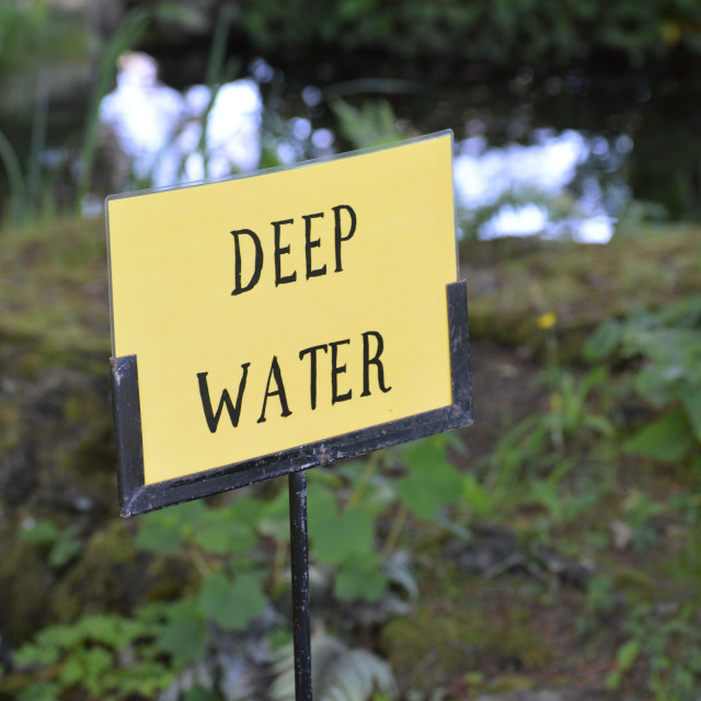 """Deep water sign."" stock image"
