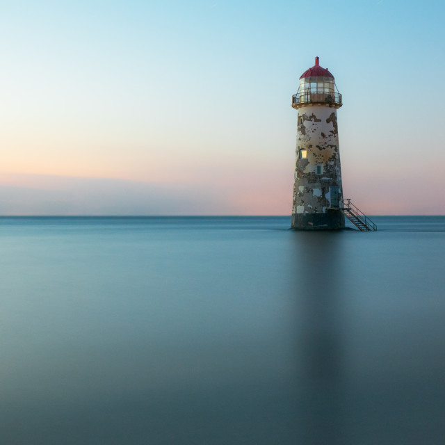 """Still Standing - Talacre Lighthouse Long Exposure"" stock image"