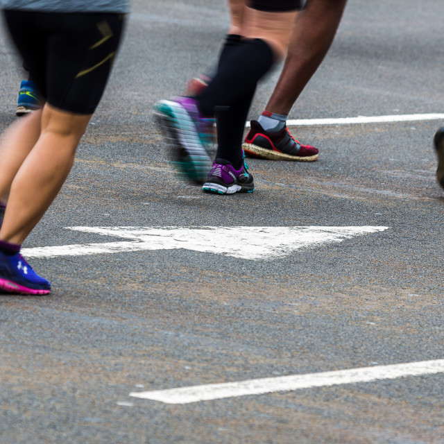 """""""Blurred motion of running shoes"""" stock image"""
