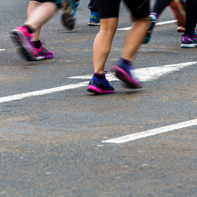 """""""Blurrring the motion of running shoes"""" stock image"""