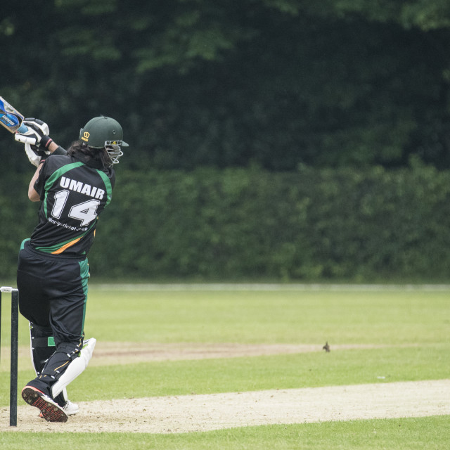 """T20 Cricket; Brentwood Buccaneers Vs Harold Wood at the Old Coun"" stock image"