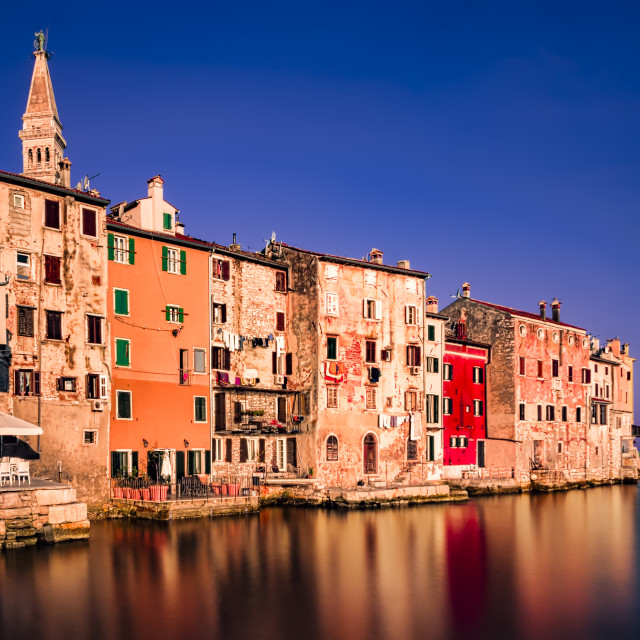 """Rovinj - Long exposure at sunrise"" stock image"
