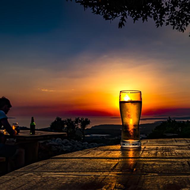 """Providenca sunset # 2"" stock image"