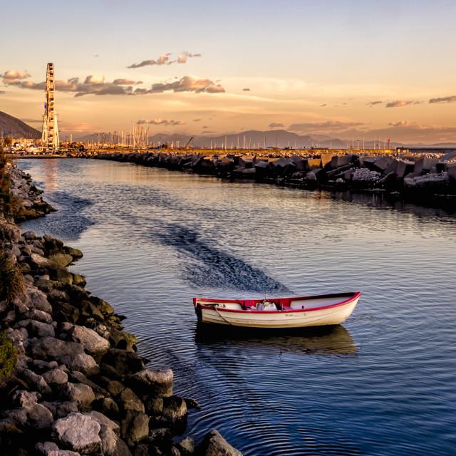 """Salerno winter sunset"" stock image"