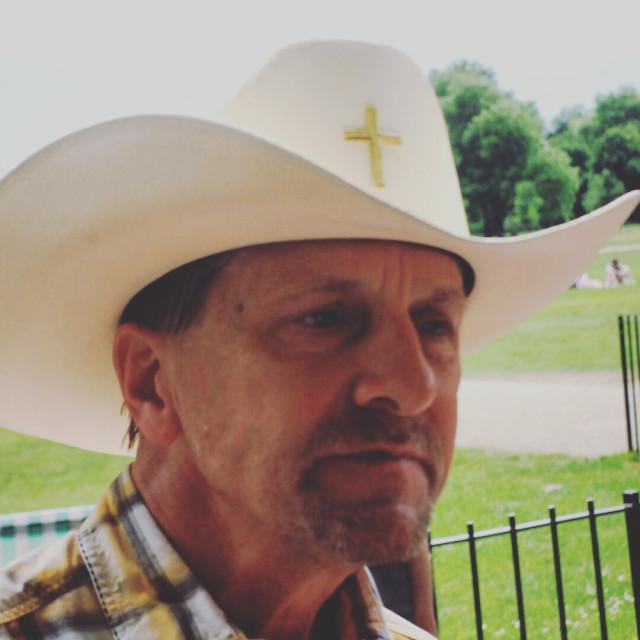 """""""Gods cowboy"""" stock image"""