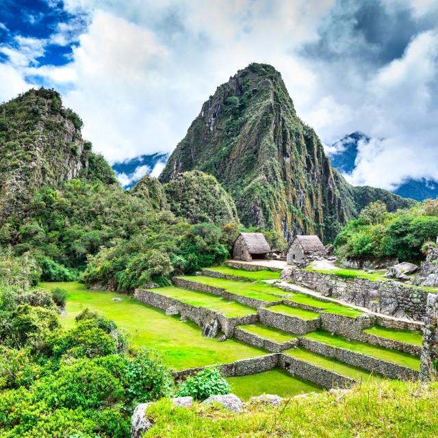 """""""Machu Picchu, Cusco - Peru"""" stock image"""