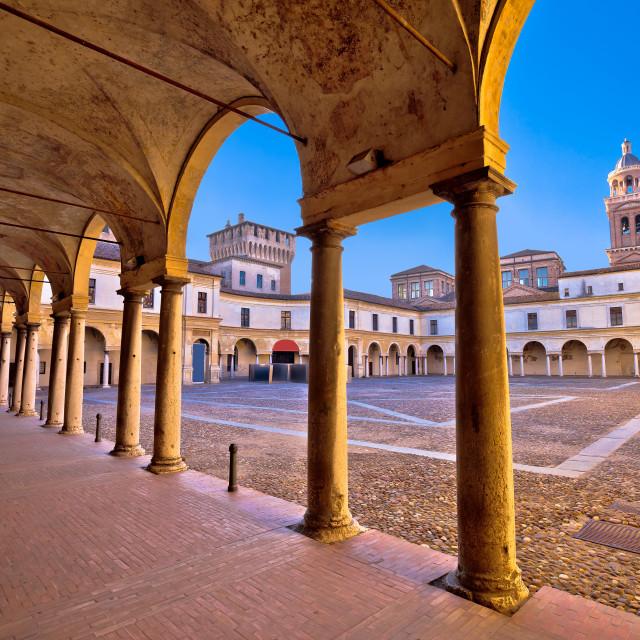 """""""Piazza Castello in Mantova architecture view"""" stock image"""