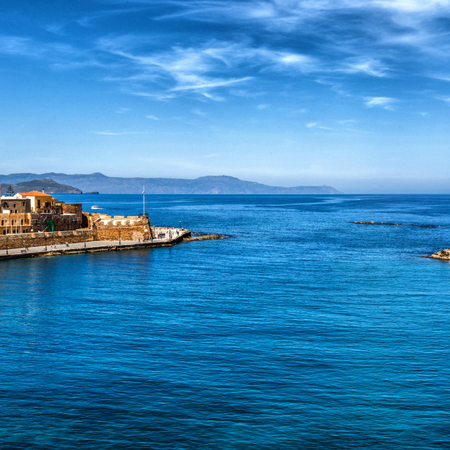 """Old port of Chania"" stock image"