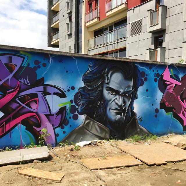 """""""Legal Graffiti Park, Kraków PL"""" stock image"""