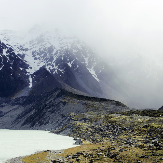"""Hooker Valley Clouded"" stock image"
