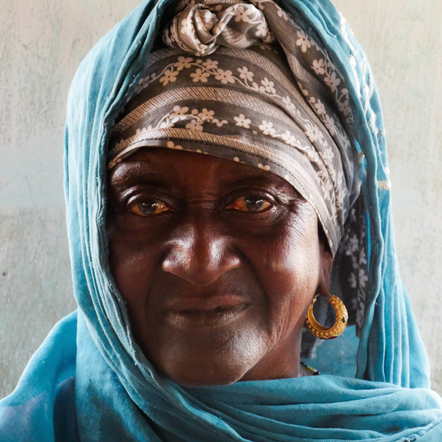 """Gambian Lady"" stock image"
