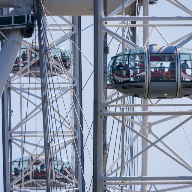 """""""LONDON - May 26 : View of the London Eye in London on May 26, 20"""" stock image"""