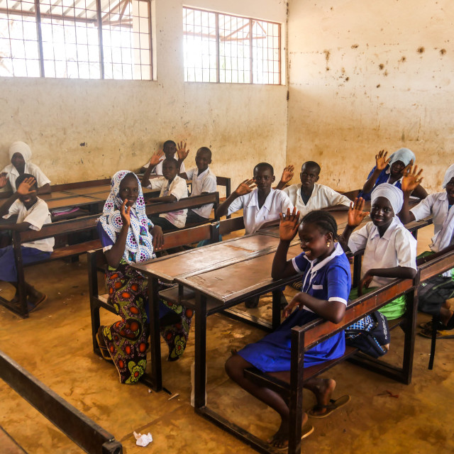 """A Gambian Education"" stock image"