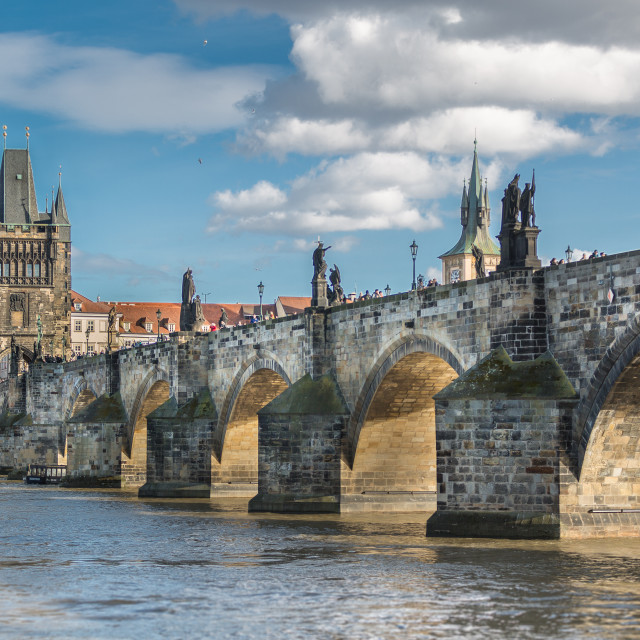 """Charles Bridge, Prague, Czech Republic"" stock image"