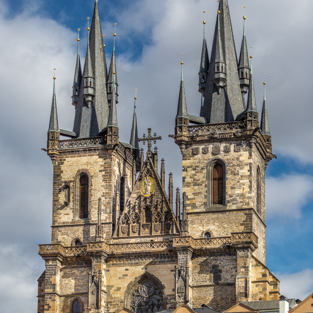 """""""Church on Old Town Square, Prague, Czech Republic"""" stock image"""