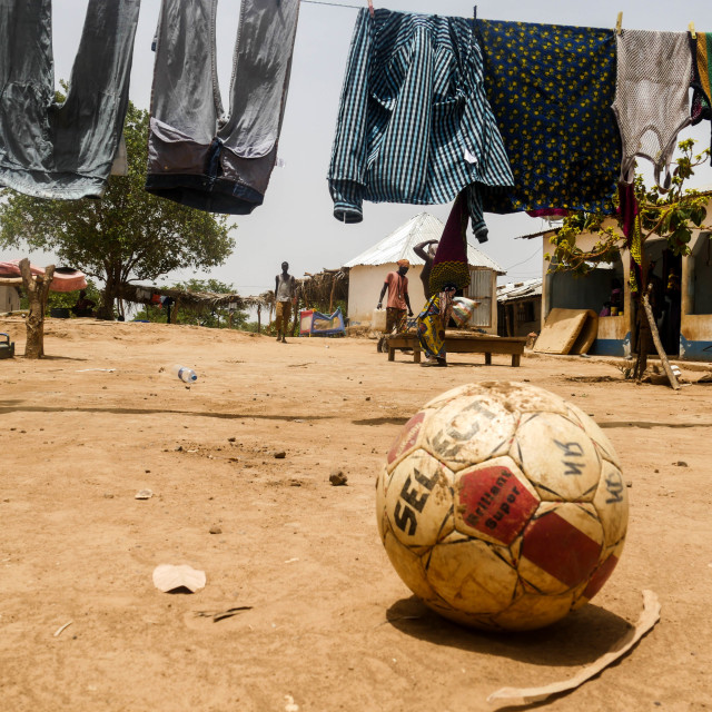 """Football in Gambia"" stock image"