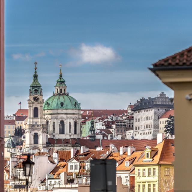 """Buildings in Prague, Czech Republic"" stock image"