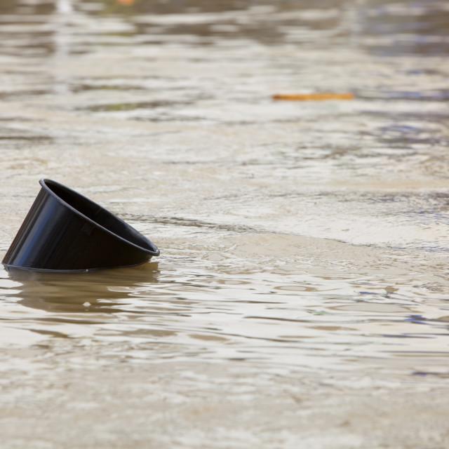 """""""On Thursday 19th November 2009 over 31cm of rain fell in 24 hours on the..."""" stock image"""
