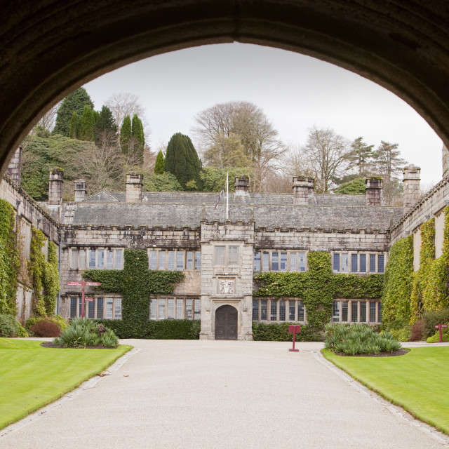 """Lanhydrock house near Bodmin in Cornwall, UK."" stock image"