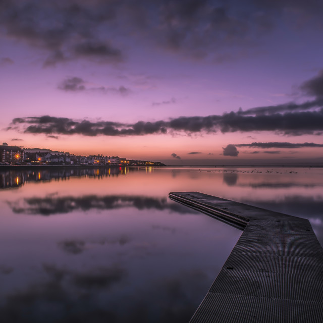 """Morning sunrise West Kirby"" stock image"