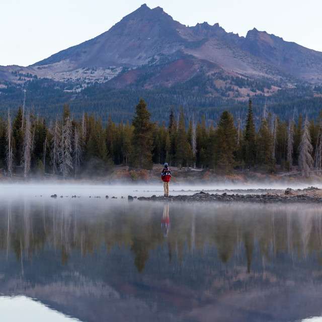 """Misty Morning Gaze"" stock image"