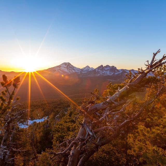 """Mountain Sunset"" stock image"