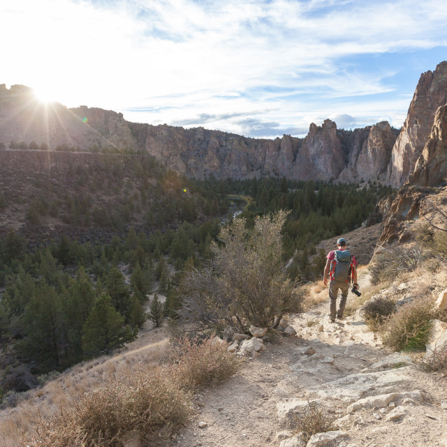 """Hiking at Smith Rock"" stock image"