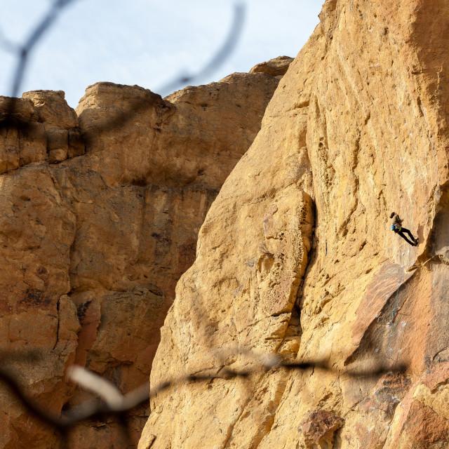 """Climber at Smith Rock"" stock image"