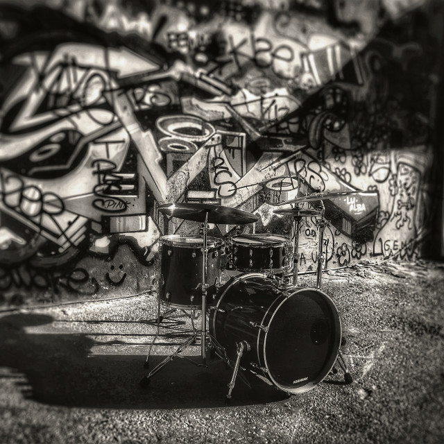 """Drums"" stock image"