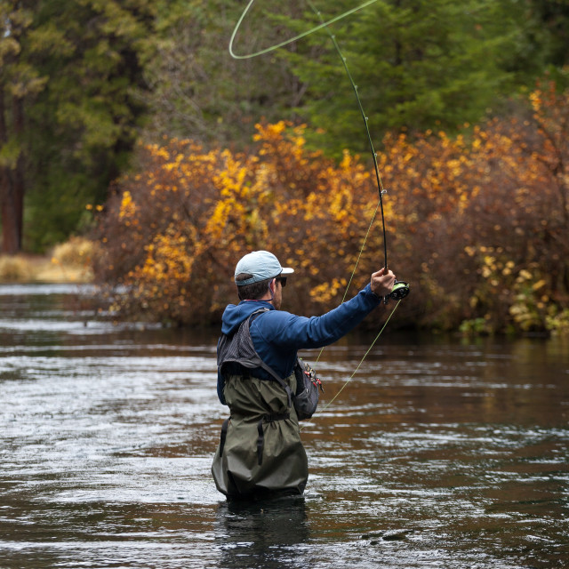 """Fall Fly Fishing"" stock image"