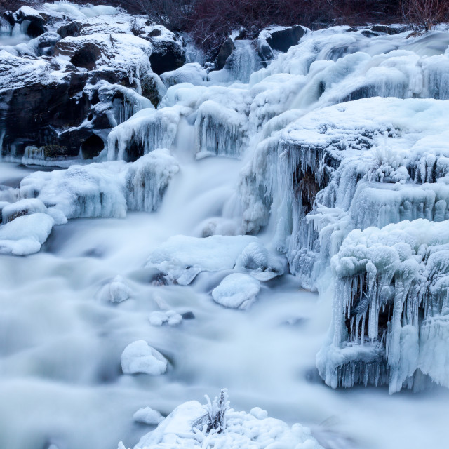 """Frozen River"" stock image"