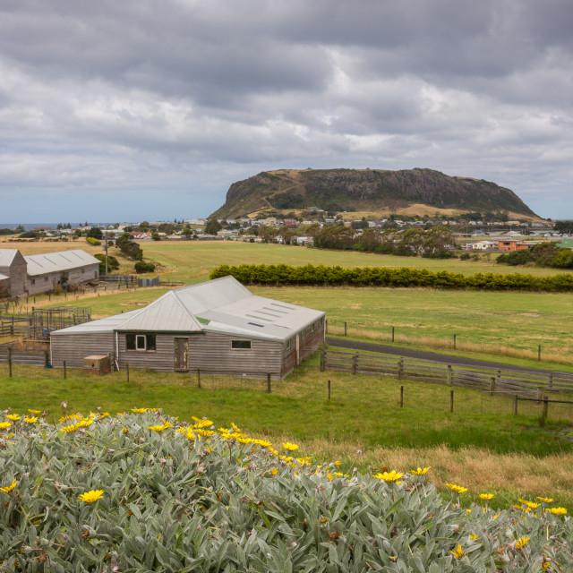"""View towards The Nut, Stanley, Tasmania"" stock image"