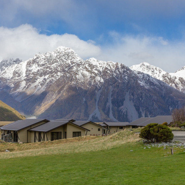 """Mt Cook afternoon"" stock image"