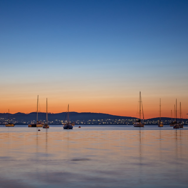 """Sunrise at Sandy Bay"" stock image"