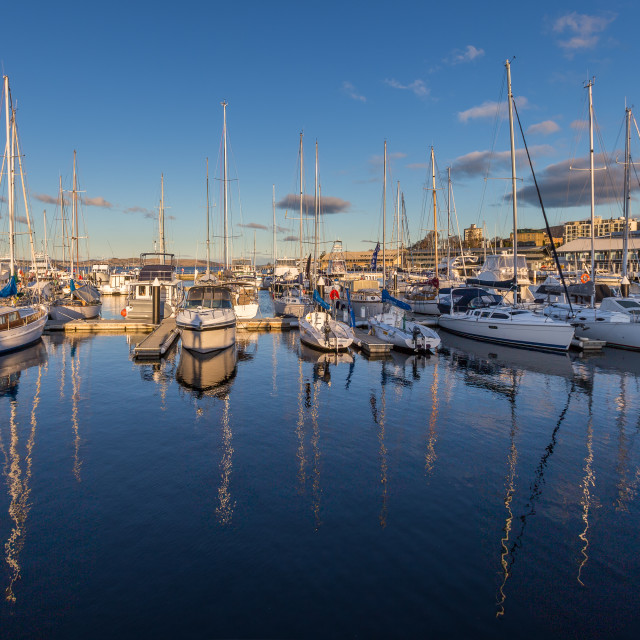 """Yachts at Constitution Dock"" stock image"