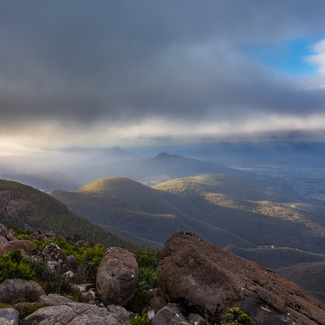 """Hobart from Mt Wellington"" stock image"