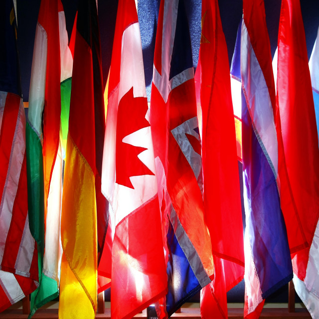 """""""Assorted flags of differents countries"""" stock image"""